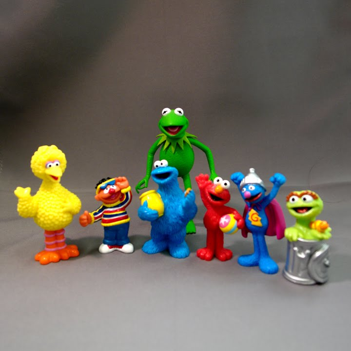 Sesame Street 40th Anniversary PVC Toy Review | The Muppet ...