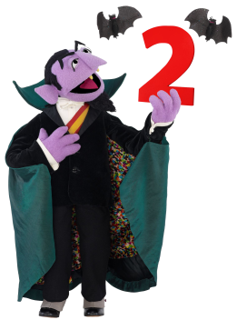 Image result for count von count 2 hahaha
