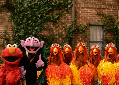Elmo, The Count & Chickens