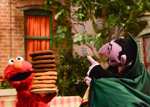 The Count Counting Cookies with Elmo