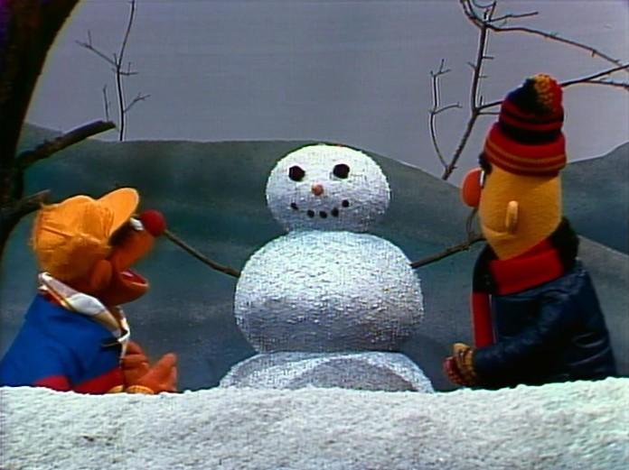ernie bert snowman