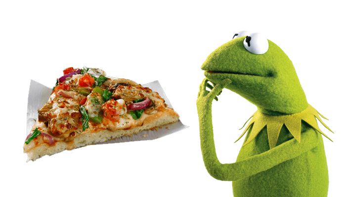 Kermit pizza