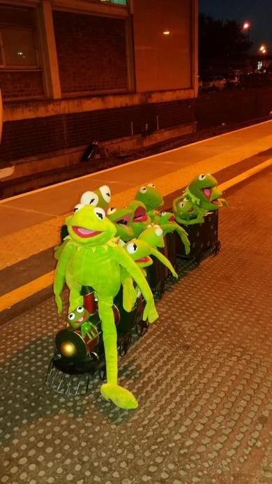 7 Kermit with his Friends on the Train