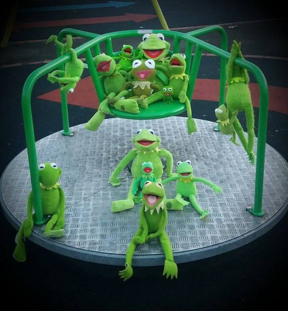 Kermits on a Roundabout