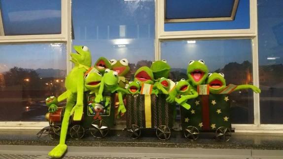 Kermits on a Train