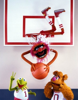 Kermit Fozzie Animal Basketball