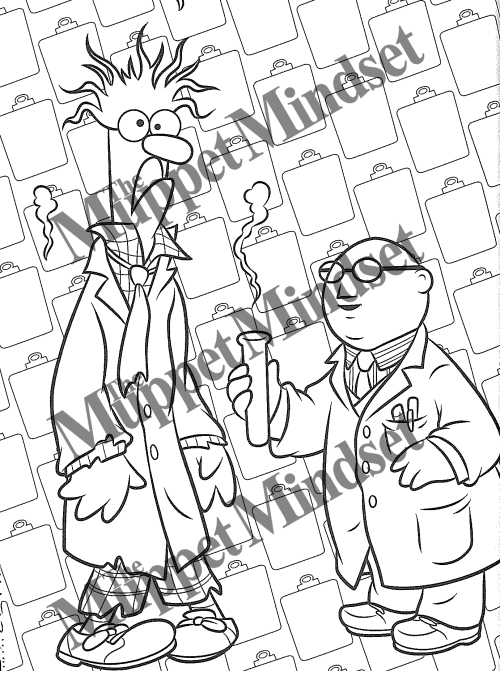 Beaker and Bunsen Honeydew coloring page | Free Printable Coloring ... | 677x500