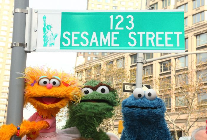 sesame street sign new york